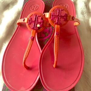 Original Tory Burch jelly thong color fiesta